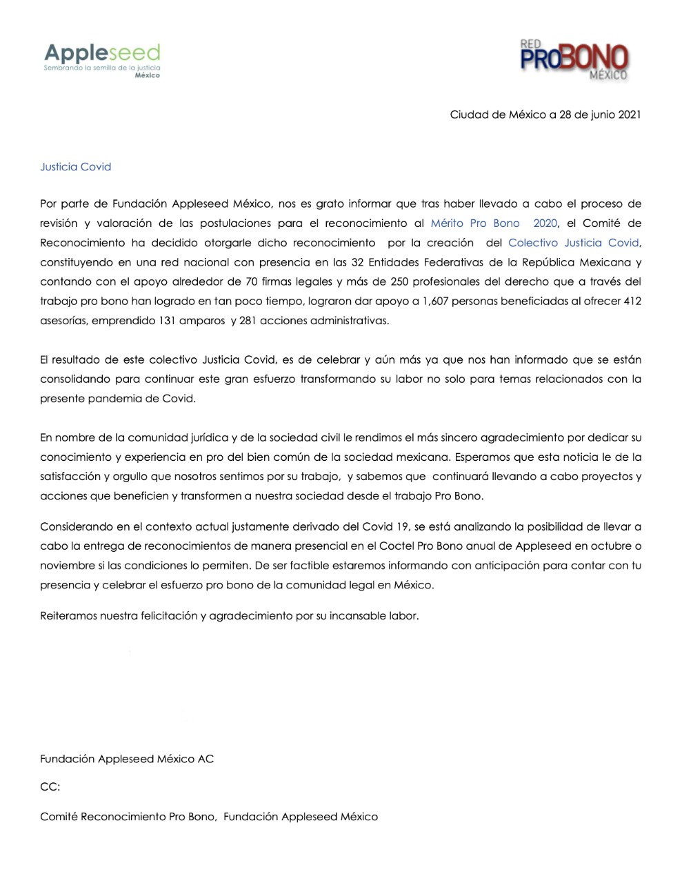 Carta de Appleseed